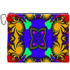 Digital Kaleidoscope Canvas Cosmetic Bag (XXXL)