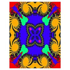 Digital Kaleidoscope Drawstring Bag (large)