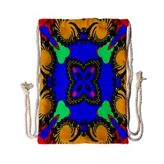 Digital Kaleidoscope Drawstring Bag (small)