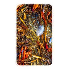Abstract In Orange Sealife Background Abstract Of Ocean Beach Seaweed And Sand With A White Feather Memory Card Reader