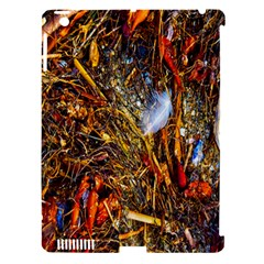 Abstract In Orange Sealife Background Abstract Of Ocean Beach Seaweed And Sand With A White Feather Apple Ipad 3/4 Hardshell Case (compatible With Smart Cover)