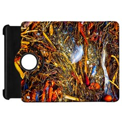 Abstract In Orange Sealife Background Abstract Of Ocean Beach Seaweed And Sand With A White Feather Kindle Fire HD 7