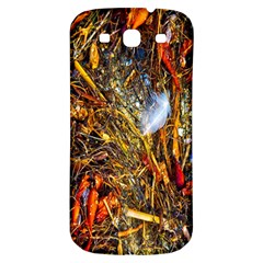 Abstract In Orange Sealife Background Abstract Of Ocean Beach Seaweed And Sand With A White Feather Samsung Galaxy S3 S III Classic Hardshell Back Case