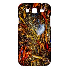 Abstract In Orange Sealife Background Abstract Of Ocean Beach Seaweed And Sand With A White Feather Samsung Galaxy Mega 5 8 I9152 Hardshell Case