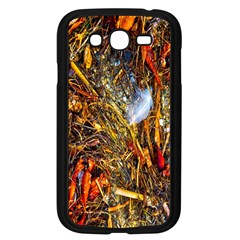 Abstract In Orange Sealife Background Abstract Of Ocean Beach Seaweed And Sand With A White Feather Samsung Galaxy Grand Duos I9082 Case (black)