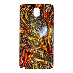 Abstract In Orange Sealife Background Abstract Of Ocean Beach Seaweed And Sand With A White Feather Samsung Galaxy Note 3 N9005 Hardshell Back Case