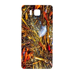 Abstract In Orange Sealife Background Abstract Of Ocean Beach Seaweed And Sand With A White Feather Samsung Galaxy Alpha Hardshell Back Case
