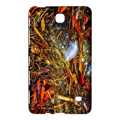 Abstract In Orange Sealife Background Abstract Of Ocean Beach Seaweed And Sand With A White Feather Samsung Galaxy Tab 4 (8 ) Hardshell Case