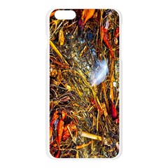 Abstract In Orange Sealife Background Abstract Of Ocean Beach Seaweed And Sand With A White Feather Apple Seamless iPhone 6 Plus/6S Plus Case (Transparent)