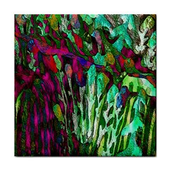 Bright Tropical Background Abstract Background That Has The Shape And Colors Of The Tropics Tile Coasters