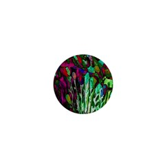 Bright Tropical Background Abstract Background That Has The Shape And Colors Of The Tropics 1  Mini Magnets