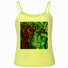 Bright Tropical Background Abstract Background That Has The Shape And Colors Of The Tropics Yellow Spaghetti Tank