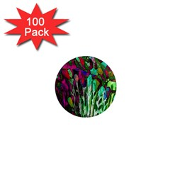 Bright Tropical Background Abstract Background That Has The Shape And Colors Of The Tropics 1  Mini Magnets (100 pack)