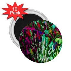 Bright Tropical Background Abstract Background That Has The Shape And Colors Of The Tropics 2 25  Magnets (10 Pack)
