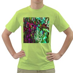 Bright Tropical Background Abstract Background That Has The Shape And Colors Of The Tropics Green T-Shirt