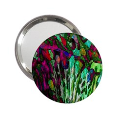 Bright Tropical Background Abstract Background That Has The Shape And Colors Of The Tropics 2 25  Handbag Mirrors