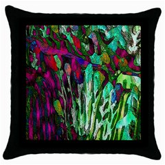Bright Tropical Background Abstract Background That Has The Shape And Colors Of The Tropics Throw Pillow Case (black)