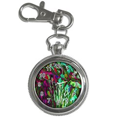 Bright Tropical Background Abstract Background That Has The Shape And Colors Of The Tropics Key Chain Watches