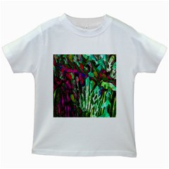Bright Tropical Background Abstract Background That Has The Shape And Colors Of The Tropics Kids White T-Shirts