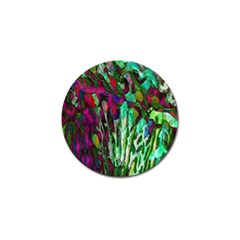 Bright Tropical Background Abstract Background That Has The Shape And Colors Of The Tropics Golf Ball Marker (4 Pack)