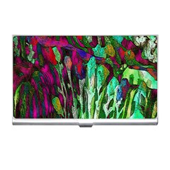 Bright Tropical Background Abstract Background That Has The Shape And Colors Of The Tropics Business Card Holders