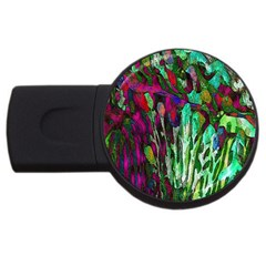 Bright Tropical Background Abstract Background That Has The Shape And Colors Of The Tropics Usb Flash Drive Round (2 Gb)