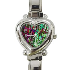 Bright Tropical Background Abstract Background That Has The Shape And Colors Of The Tropics Heart Italian Charm Watch