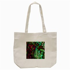 Bright Tropical Background Abstract Background That Has The Shape And Colors Of The Tropics Tote Bag (Cream)