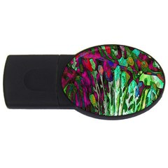 Bright Tropical Background Abstract Background That Has The Shape And Colors Of The Tropics Usb Flash Drive Oval (4 Gb)
