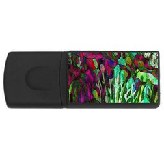 Bright Tropical Background Abstract Background That Has The Shape And Colors Of The Tropics USB Flash Drive Rectangular (4 GB)