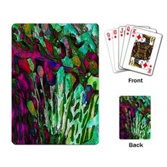 Bright Tropical Background Abstract Background That Has The Shape And Colors Of The Tropics Playing Card