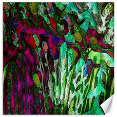 Bright Tropical Background Abstract Background That Has The Shape And Colors Of The Tropics Canvas 12  x 12