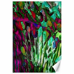 Bright Tropical Background Abstract Background That Has The Shape And Colors Of The Tropics Canvas 12  X 18