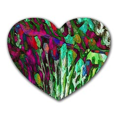 Bright Tropical Background Abstract Background That Has The Shape And Colors Of The Tropics Heart Mousepads