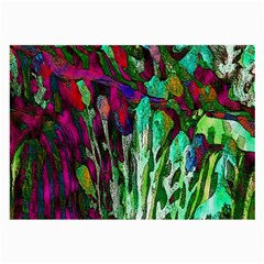 Bright Tropical Background Abstract Background That Has The Shape And Colors Of The Tropics Large Glasses Cloth (2 Side)
