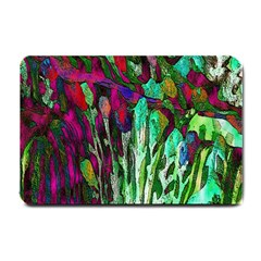 Bright Tropical Background Abstract Background That Has The Shape And Colors Of The Tropics Small Doormat