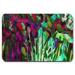 Bright Tropical Background Abstract Background That Has The Shape And Colors Of The Tropics Large Doormat