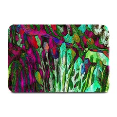 Bright Tropical Background Abstract Background That Has The Shape And Colors Of The Tropics Plate Mats