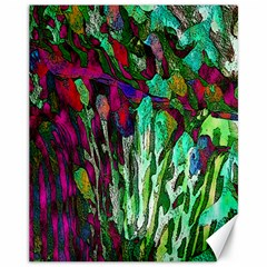 Bright Tropical Background Abstract Background That Has The Shape And Colors Of The Tropics Canvas 11  X 14