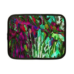Bright Tropical Background Abstract Background That Has The Shape And Colors Of The Tropics Netbook Case (small)