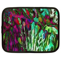 Bright Tropical Background Abstract Background That Has The Shape And Colors Of The Tropics Netbook Case (Large)
