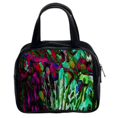 Bright Tropical Background Abstract Background That Has The Shape And Colors Of The Tropics Classic Handbags (2 Sides)