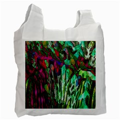 Bright Tropical Background Abstract Background That Has The Shape And Colors Of The Tropics Recycle Bag (Two Side)