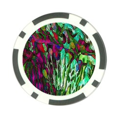 Bright Tropical Background Abstract Background That Has The Shape And Colors Of The Tropics Poker Chip Card Guard (10 Pack)
