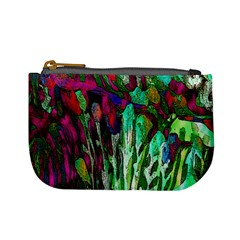 Bright Tropical Background Abstract Background That Has The Shape And Colors Of The Tropics Mini Coin Purses