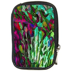 Bright Tropical Background Abstract Background That Has The Shape And Colors Of The Tropics Compact Camera Cases