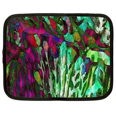Bright Tropical Background Abstract Background That Has The Shape And Colors Of The Tropics Netbook Case (XXL)