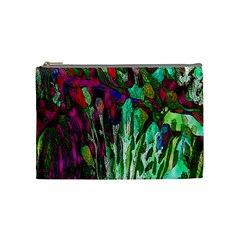Bright Tropical Background Abstract Background That Has The Shape And Colors Of The Tropics Cosmetic Bag (medium)