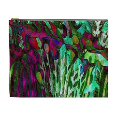 Bright Tropical Background Abstract Background That Has The Shape And Colors Of The Tropics Cosmetic Bag (XL)