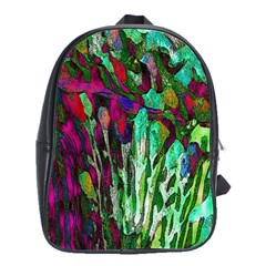 Bright Tropical Background Abstract Background That Has The Shape And Colors Of The Tropics School Bags(large)